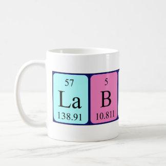 Lab Hero periodic table name mug