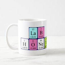 Lab Honey Periodic table mug