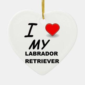 lab love christmas ornament