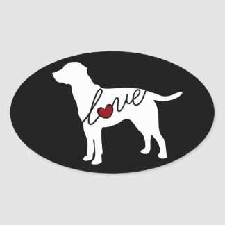 Lab Love Oval Sticker