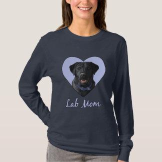 Lab Mom Black Labrador Retriever Blue Heart T-Shirt