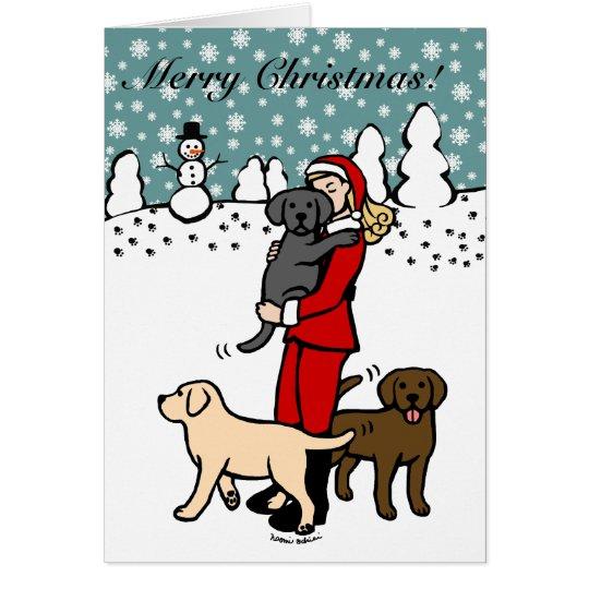 Lab Mum Santa Christmas 2 Card