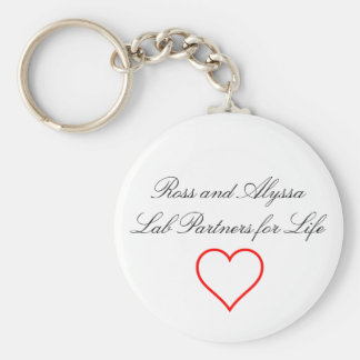Lab Partners Basic Round Button Key Ring