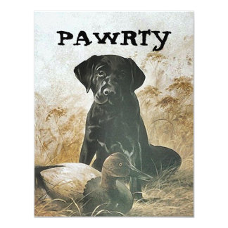 LAB PUP DOG PAWRTY PARTY INVITE INVITATION