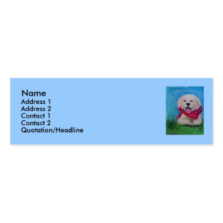 Lab Puppy - Pastel Drawing Business Card Template