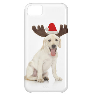 Lab Puppy Wearing Antlers iPhone 5C Case