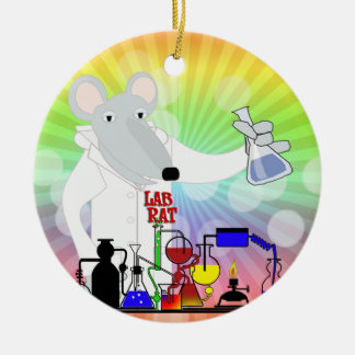 LAB RAT CHEMISTRY CHRISTMAS ORNAMENT