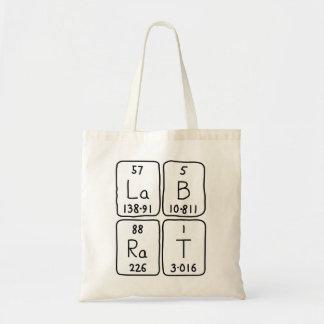 Lab Rat periodic table name tote bag