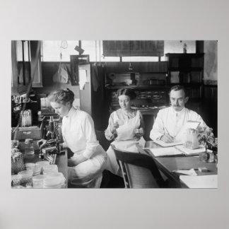 Lab Rats, 1912 Print