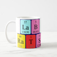 Lab Rats Periodic table mug