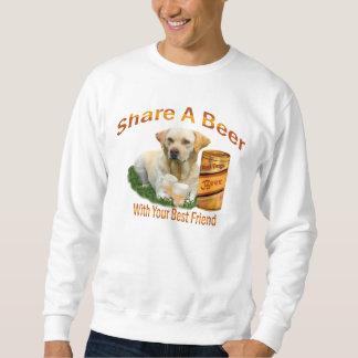 Lab Sharing A Beer Sweatshirt