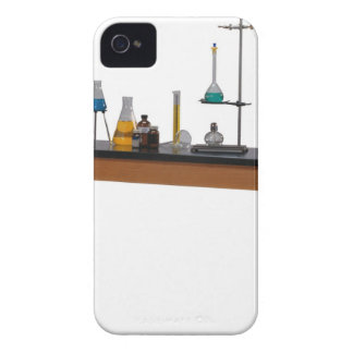 Lab table with chemicals iPhone 4 case
