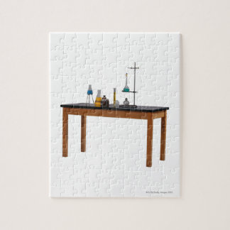 Lab table with chemicals jigsaw puzzle