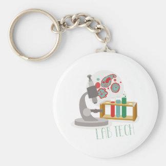 Lab Tech Basic Round Button Key Ring