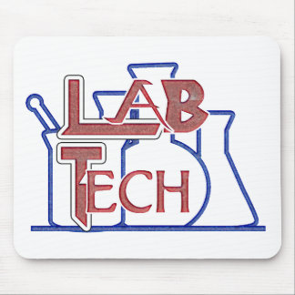 Lab Tech with Beakers and Flasks (Laboratory Tech) Mouse Mat