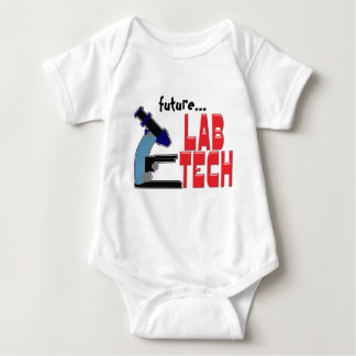 LAB TECH with MICROSCOPE Baby Bodysuit