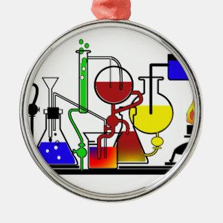 LAB WARE - LABORATORY  GLASSWARE MAD SCIENTIST Silver-Colored ROUND DECORATION