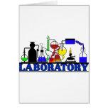 LAB WARE - LABORATORY GLASSWARE SETUP GREETING CARD