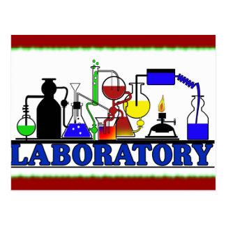 LAB WARE - LABORATORY GLASSWARE SETUP POSTCARD