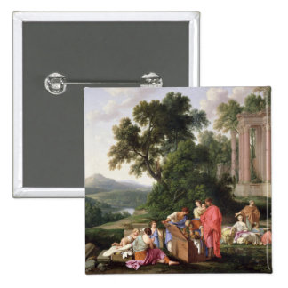 Laban Searching for the Idols, 1647 15 Cm Square Badge