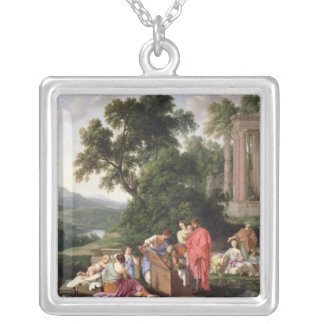 Laban Searching for the Idols, 1647 Silver Plated Necklace