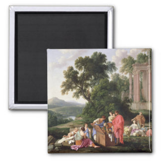 Laban Searching for the Idols, 1647 Square Magnet