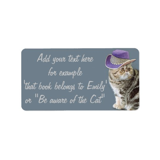 Label Be aware of the cat by BestPeople Address Label