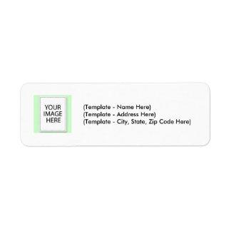 Label Choose Color Plain Line Your Image Template Return Address Label