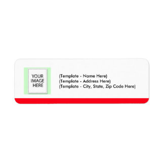Label Choose Color Red Line Your Image Template Return Address Label