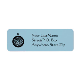 Label - Compass Rose Return Address Label