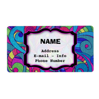 Label Floral abstract background