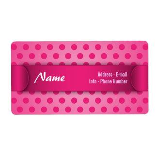 Label Pink Polka Dot