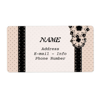 Label  Polka Dot and Flowers