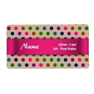 Label Polka Dots