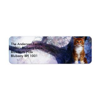 Label Return Address Ginger Cat Return Address Label