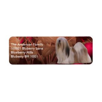 Label Return Address Lhasa Apso Return Address Label