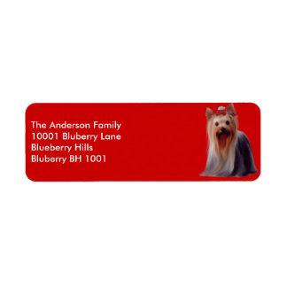 Label Return Address Yorkshire Terrier Return Address Label
