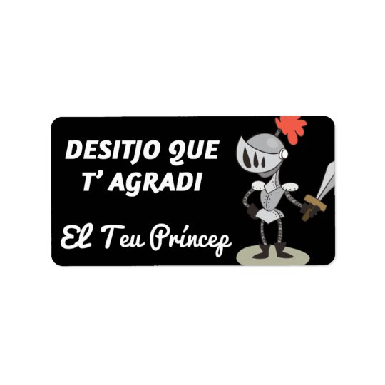 Label, Sant Jordi, Desitjo that t'agradi Address Label