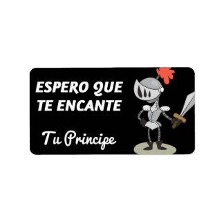 Label, Sant Jordi, I hope that it enchants to you Label