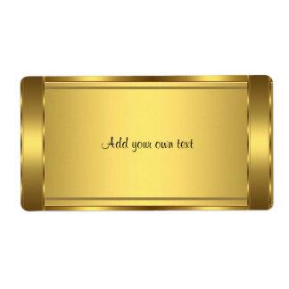 Label Sticker Gold Large