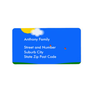 Label Sunny Day Address Label