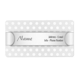 Label White Polka Dot