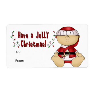 Label Xmas Gift Sticker Tags Christmas Cute Baby