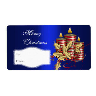 Label Xmas Gift Sticker Tags Christmas Large Size