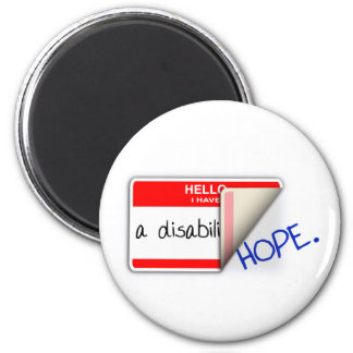 Labeled Disabled Magnet