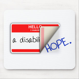 Labeled Disabled Mousepad