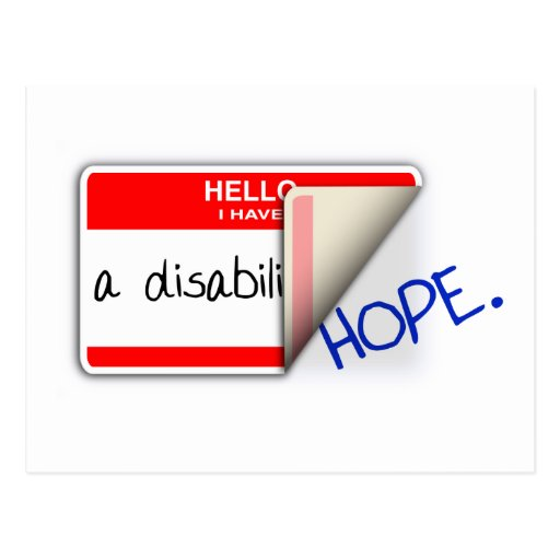 Labeled Disabled Postcard
