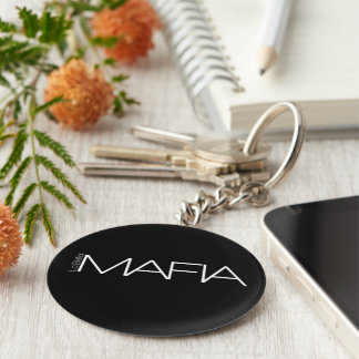 La'Bella MAFIA Basic Round Button Key Ring