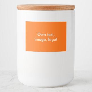 Labels Food Container uni Orange