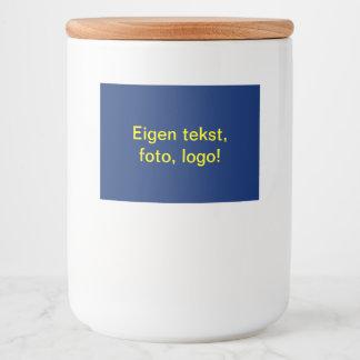 Labels Glazen Pot uni Blauw